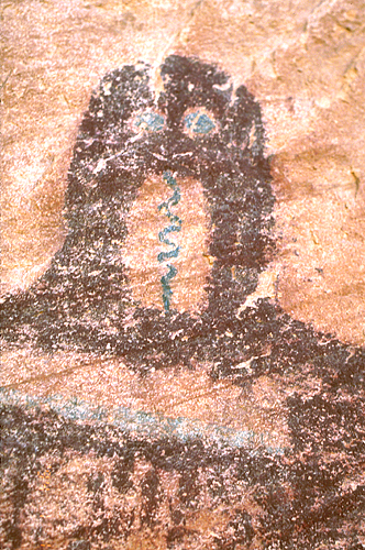 Barrier Canyon Style Rock Art Panel